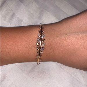 Swarovski Rose Gold Bangle Bracelet